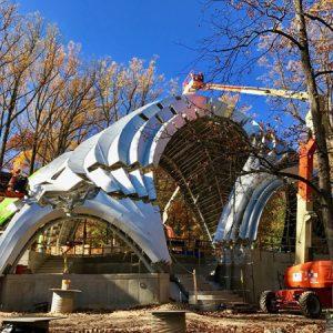Zahner Chrysallis Under construction