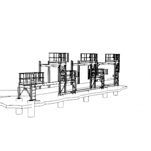 Rush project for addition of access platforms to service /monitor gas piping station